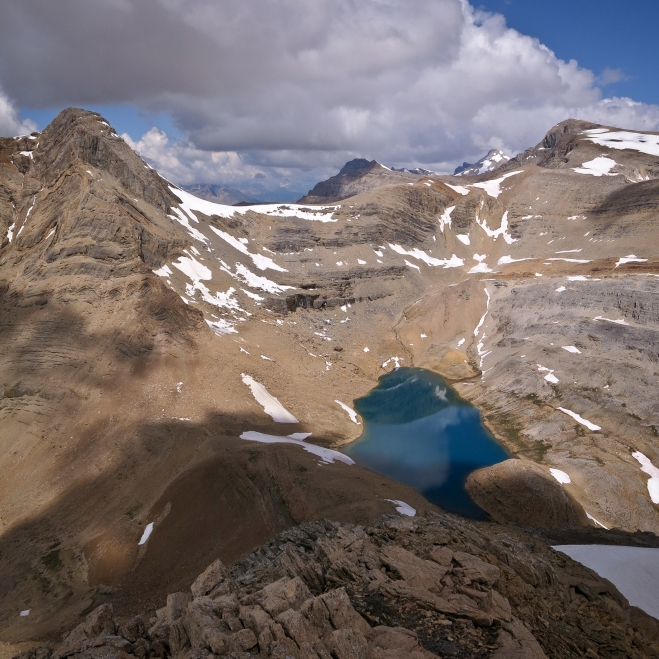 Kiwetinok Lake seen from the top of Mt. Kerr