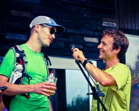 "Top-notch Canadian ultramarathoner Adam Campbell asks Jordan what motivated him to come run his first ultra. An awesome reply: ""Mmm... Foolishness?"""