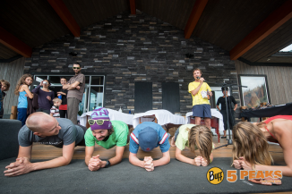 Well, I didn't win the race; maybe I can beat these kids in a planking competition... Nope.