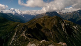 Looks like fun trail-running to me... Mont Blanc on left, Chamonix down below.