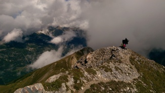 Peeps chilling at the Croix Fer, amongst the clouds.