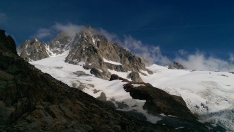 Pinnacle-like Aiguille du Tour (3529m).