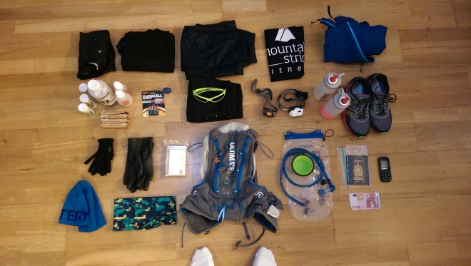 All of the crap I had to carry around for 100km.