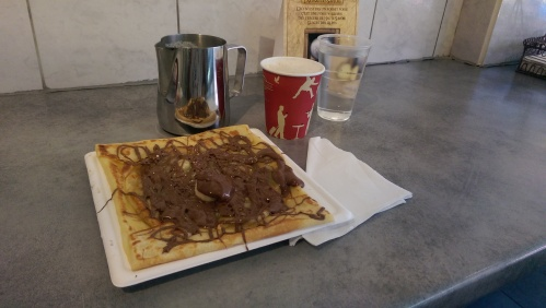 Recovery meal: banana and Nutella crepe. I couldn't finish it.
